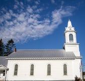 Landelijke doopsgezinde kerk stock afbeelding