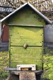 Landelijke houten bijenbijenkorf Royalty-vrije Stock Afbeelding
