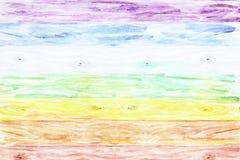 Landelijke houten die achtergrond als een regenboog wordt gekleurd Royalty-vrije Stock Afbeelding