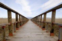 Landelijke houten gang Stock Fotografie