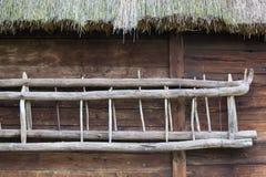 Landelijke houten ladder royalty-vrije stock foto's