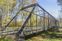 Landelijke Indiana Iron Bridge Royalty-vrije Stock Afbeelding