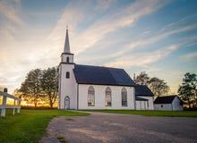 Landelijke kerk in Canada stock foto's