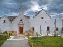 Landelijke kerk. Locorotondo. Apulia. stock afbeeldingen
