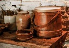 Landelijke keukenartikelen Royalty-vrije Stock Afbeelding