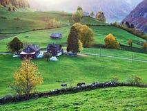 Landelijke Landbouwbedrijven en de Traditionele Architectuur van Alt St Johann in Thur-Riviervallei stock foto's