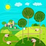 Landelijke landschappen Stock Foto
