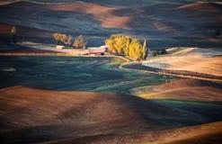 Landelijke landschapsboerderij stock foto