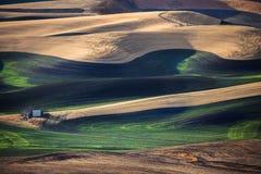 Landelijke landschapsboerderij Royalty-vrije Stock Foto's