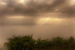 Landelijke mistbergen Royalty-vrije Stock Foto