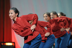 Landelijke oude dame dans-2011 dansende het Overlegpartij van de klassengraduatie Stock Foto