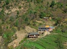 Landelijke stammen himalayan woning in Kullu India Royalty-vrije Stock Afbeelding