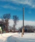 Landelijke straat in de Winter Royalty-vrije Stock Afbeelding