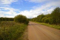 Landelijke weg in Rusland Stock Fotografie