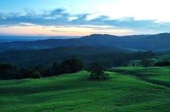 Landelijke zonsondergang Stock Foto's