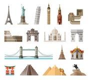 Landen van het het ontwerpmalplaatje van het wereld vectorembleem Stock Foto