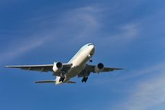 Landend vliegtuig Stock Afbeelding