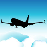 Landend Vliegtuig Stock Foto's