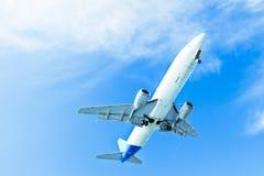 Landend Vliegtuig Stock Foto