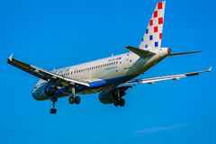 Landend vliegtuig Royalty-vrije Stock Afbeeldingen
