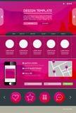 Landende Web-pagina Stock Foto's