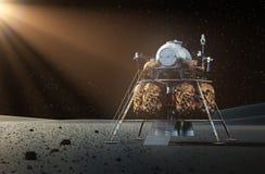 Lander dello spazio sul pianeta Immagini Stock Libere da Diritti