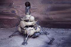 Lander für Oberflächenerforschung anderer Planeten Historischer Gegenstand Das Museum der Kosmonautik in Moskau, Russland lizenzfreies stockfoto