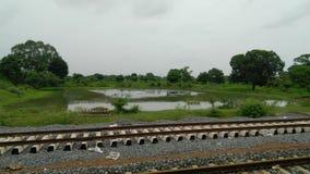 Landescape da estrada de ferro da trilha de Faming Imagem de Stock