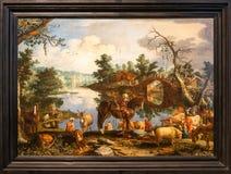 Landesmuseum von den schönen Künsten genannt nach AS Pushkin - WILLEM VAN NIEUWLANT, JAKOB, der ZU CANAAN ZURÜCKKOMMT stockbild