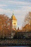 Landesmuseum in Zurich. Switzerland. Viewed at sunset Stock Image