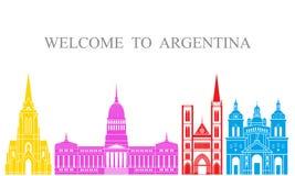 landet för argentina bakgrundskanter detailed white för form för region för flaggor symboler isolerad set Isolerad Argentina arki stock illustrationer