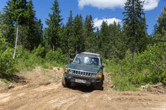 Landexpedition Hummer-Verein Stockbilder