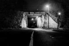 Landfahrbahn-Tunnelunterführung Lizenzfreies Stockbild