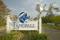 Landfall Sign to suburb after Hurricane Ivan Stock Photo