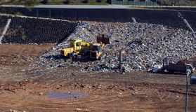 Landfill. Detailed view of a municipal landfill site Royalty Free Stock Photography