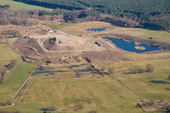 Landfill - aerial photo Royalty Free Stock Photography