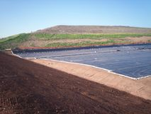 Landfill Cell Liner 2 Stock Image