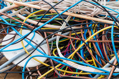 Landfill - copper wires Royalty Free Stock Image