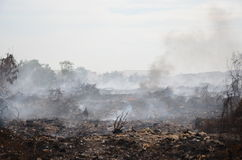 Landfill fire in Thailand Royalty Free Stock Photos
