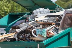 Free Landfill For Used Household Appliances. Electrical Waste For Recycling Stock Photography - 188996912