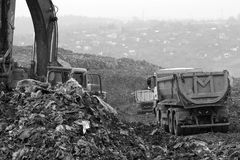 Landfill garbage waste dumped Royalty Free Stock Photography