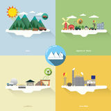 Landfill gas. With four picture Stock Images