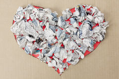 Landfill heart concept Royalty Free Stock Photo