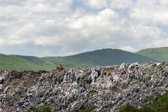 Landfill for household waste royalty free stock photo