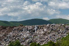 Landfill for household waste Royalty Free Stock Photos