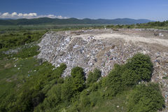 Landfill for household waste Stock Photo