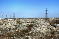 Landfill of industrial waste Stock Photography
