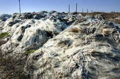 Landfill of industrial waste Stock Photos