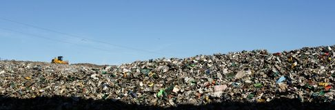 Landfill landscape Royalty Free Stock Photography