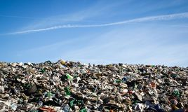 Landfill landscape Stock Photography